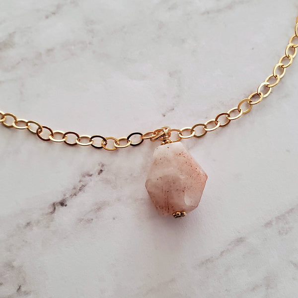 Sunstone Pendant Necklace
