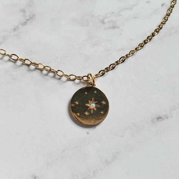 Opal Star Pendant Necklace