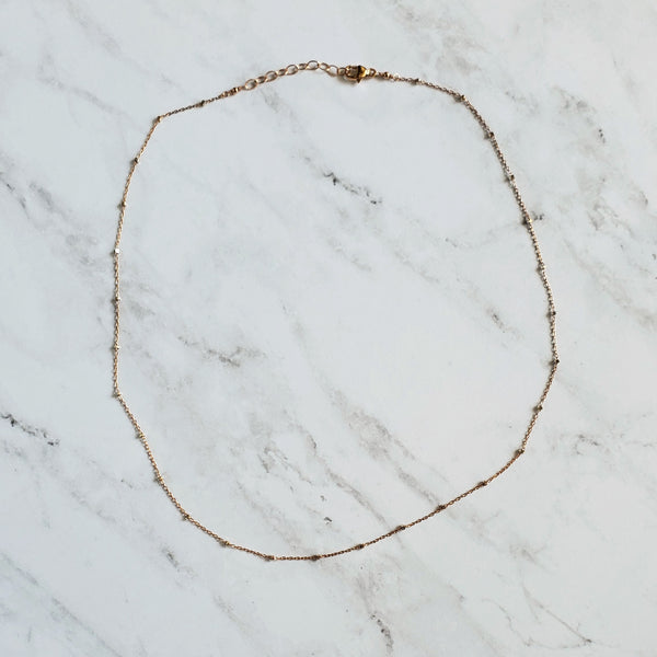 Rose Gold and Silver Chain Necklace