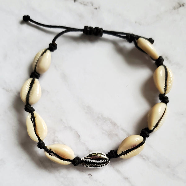 Cowrie Cord Anklet