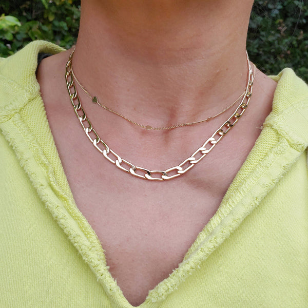 Pinky Curb Chain Necklace