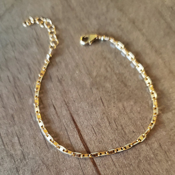 2-Tone Gold and Silver Bracelet