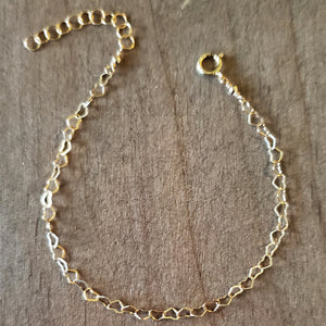 Gold Heart Link Chain