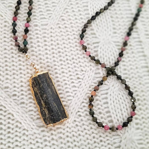 Epidote Pendant Necklace