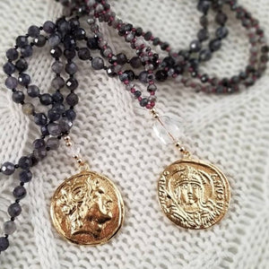 Gold Medallion Pendant Necklace