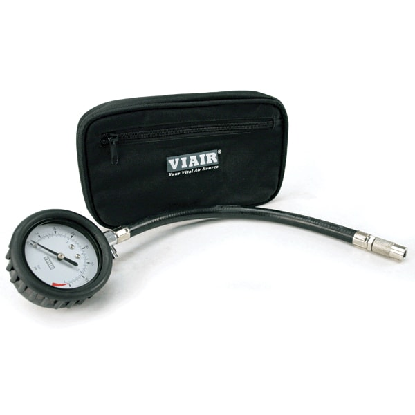 2.5in tyre Gauge w/Hose (0 to 35 PSI, with Storage Pouch)