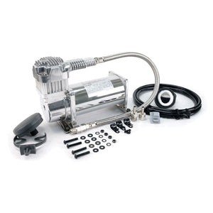 380C 200 PSI Chrome Compressor Kit 12V 100% Duty @100 PSI 55% Duty @200 PSI