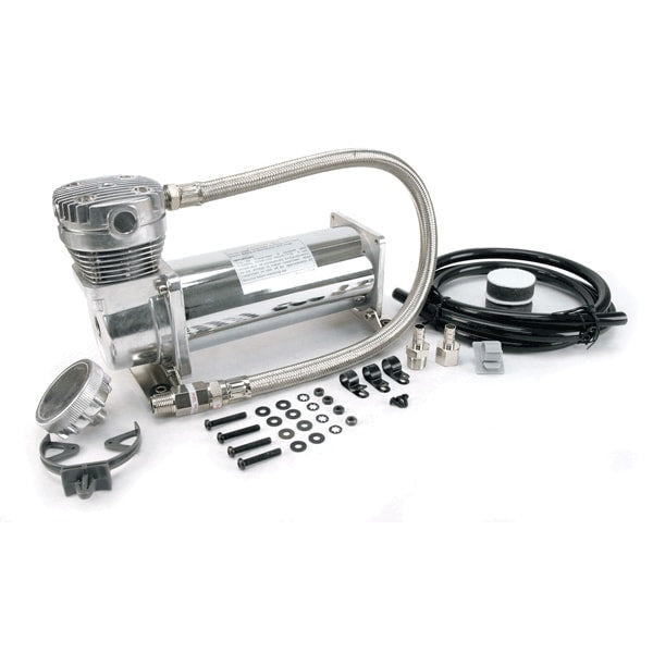 460C Chrome Compressor Kit, 3/8in Port (12V, 100% Duty, Sealed)