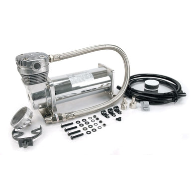480C 200 PSI Chrome Compressor Kit 3/8in Port 12V 100% Duty @ 100 PSI 50% Duty @200 PSI