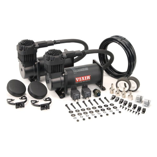 Dual Stealth Black 400C Value Pack (150 PSI, 400C/2, 110/145 P. Switch, 40 Amp Relay/2)