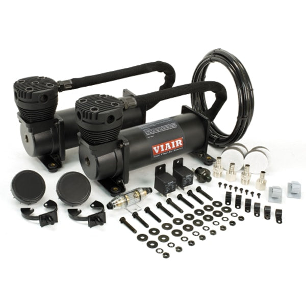 Dual Stealth Black 480C Value Pack (200 PSI, 480C/2, 165/200 P. Switch, 40 Amp Relay/2, Fuse Holder)