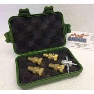 Tyre Deflators (set of 4) with box, for off road pressures, 4x4