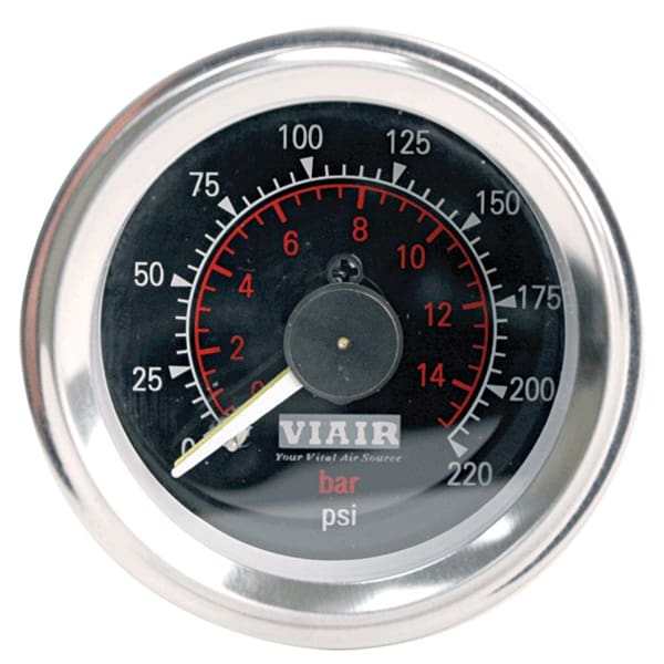 2in Dual Needle Gauge (Black Face Illuminated 220 PSI)