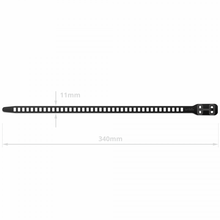 Load image into Gallery viewer, SoftTIE DL Tie 11/340 Black - 10 pack