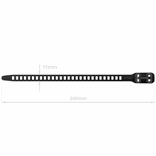 Load image into Gallery viewer, SoftTIE DL Tie 11/260 Black - 10 pack