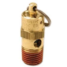 Load image into Gallery viewer, 175 PSI Hi-Temp Rated Safety Valve (1/4in M, NPT)