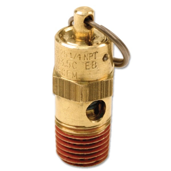 250 PSI Hi-Temp Rated Safety Valve (1/4in M, NPT)