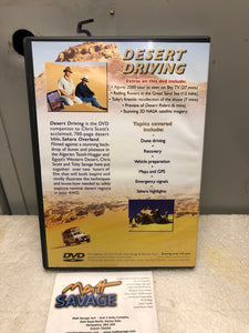 Desert Driving DVD by Chris Scott Toby Savage NOS