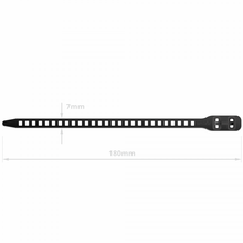 Load image into Gallery viewer, SoftTIE DL Tie 7/180mm Black - 10 pack