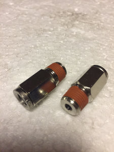 1/8in NPT(M) to 1/4in Airline Straight Fitting (2 pcs) DOT Approved