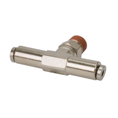 1/4in NPT(M) 1/4in to 1/4in Swivel T-Fitting (2 pcs) DOT Approved