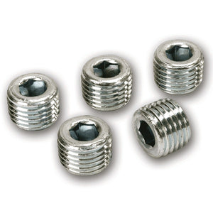 1/4in NPT M Plugs, 5 Piece Pack