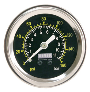 1.5in Single Needle Gauge (Black Face No Light 160 PSI)