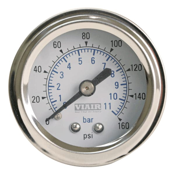 2in Single Needle Gauge (White Face Illuminated 160 PSI)