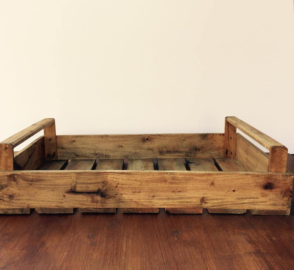 Timber serving tray large