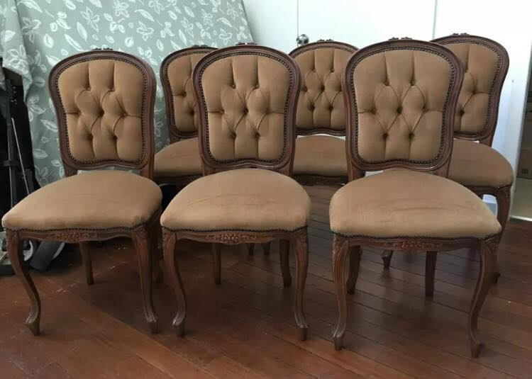 Chocolate single chairs