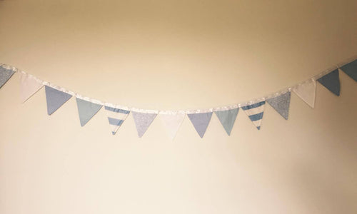 Bunting - blue - material