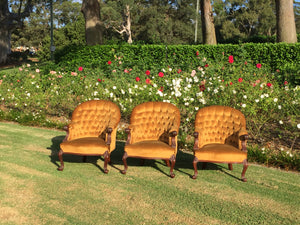 Gold armchairs