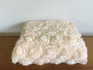 Cream rose throw
