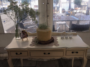 Vintage dressing table with stool
