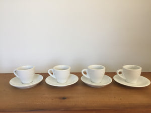 White tea cups and saucers