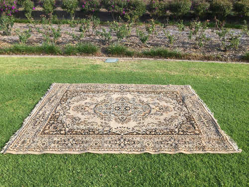 Beige and brown rug - 170cm x 220cm