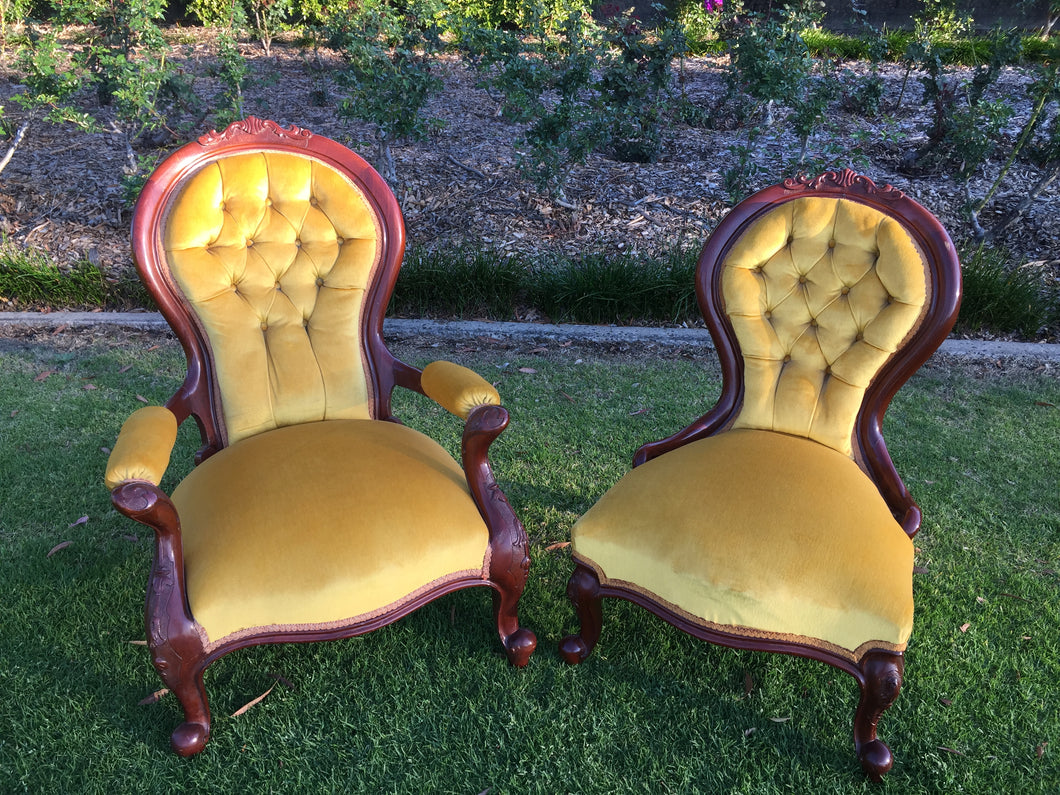 Gold Grandmother & Grandfather chairs