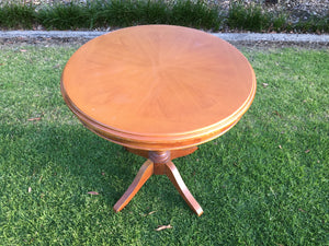 Medium sized timber circle table