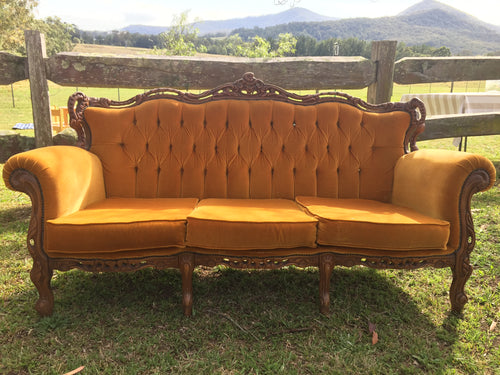 Orange 3 seater lounge