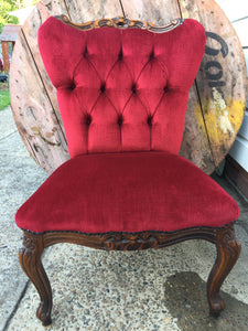 Red Chesterfield NO2 single chairs