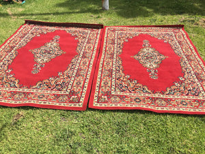 Red rugs large - 160cm x 225cm