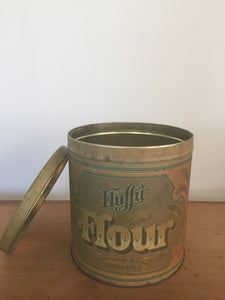 Vintage sugar and flour canisters