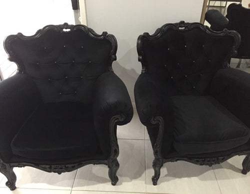 Black arm chairs
