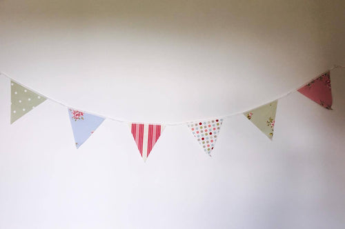 Bunting - multi colour - material