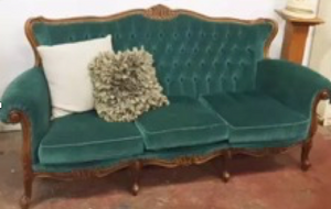 Turquoise 3 seater lounge