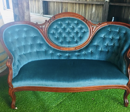 Blue 2 seater lounge