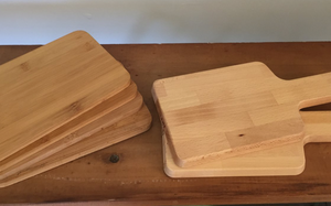 Timber serving platters small
