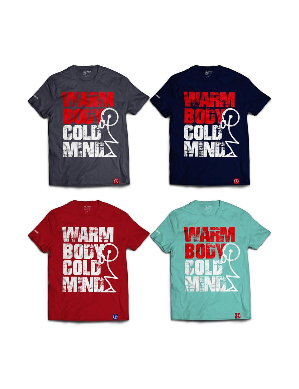 warm body cold mind t-shirt