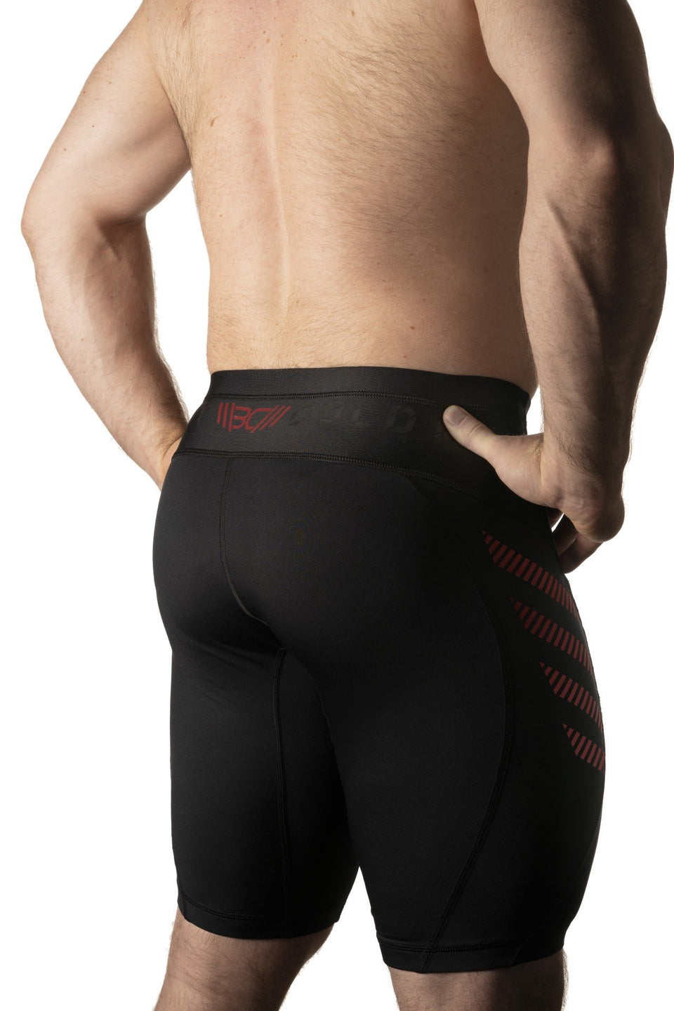 Warm Body Cold Mind Compression Shorts L4 Red