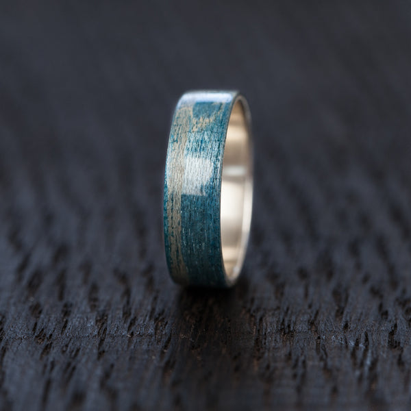 Blue Recycled Skateboard Bentwood Ring - BoardThing